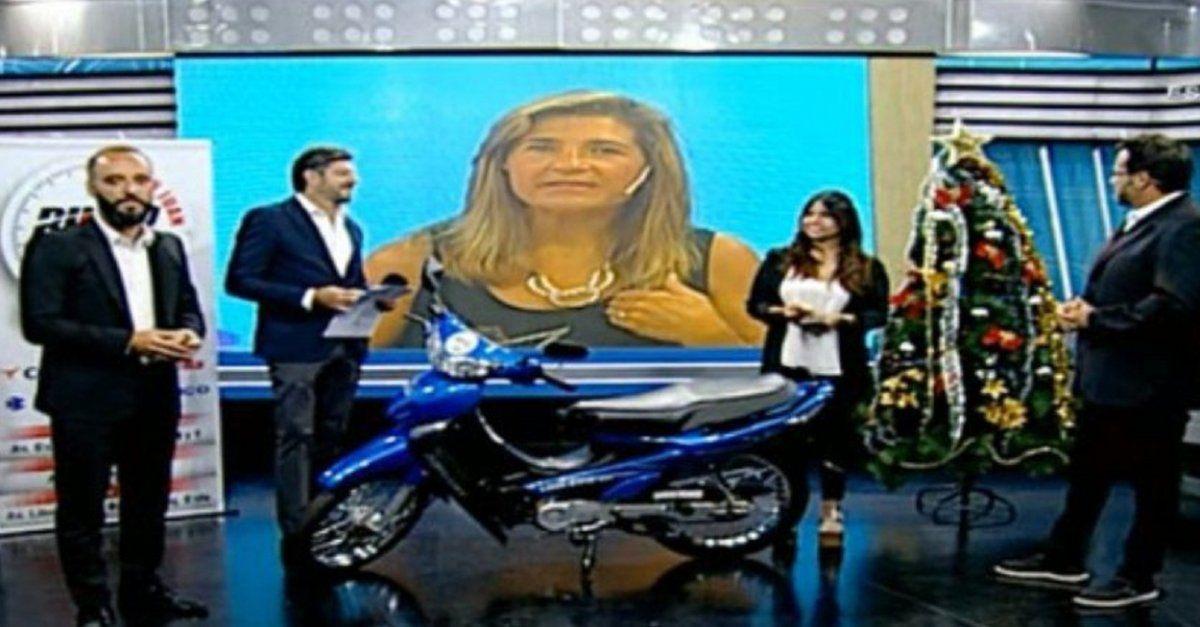 Mirá quién fue el afortunado que se ganó la moto 0KM de SJ8.com