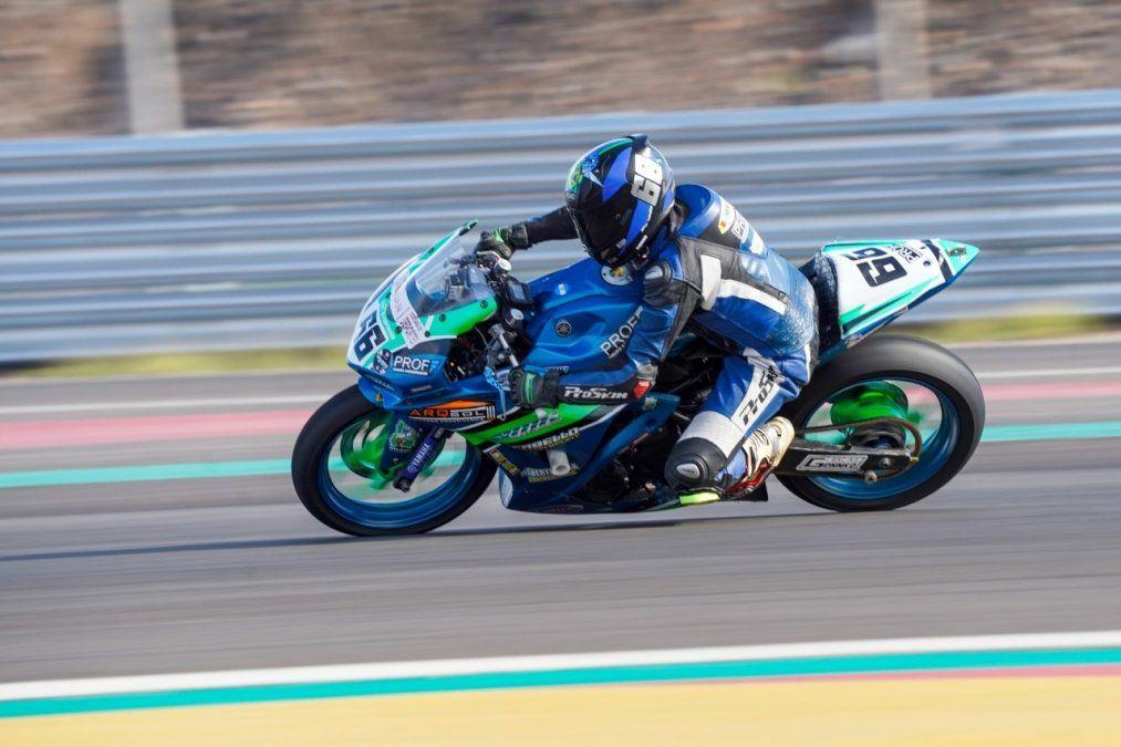 Mauri Quiroga viajó para su debut en el Superbike Argentino