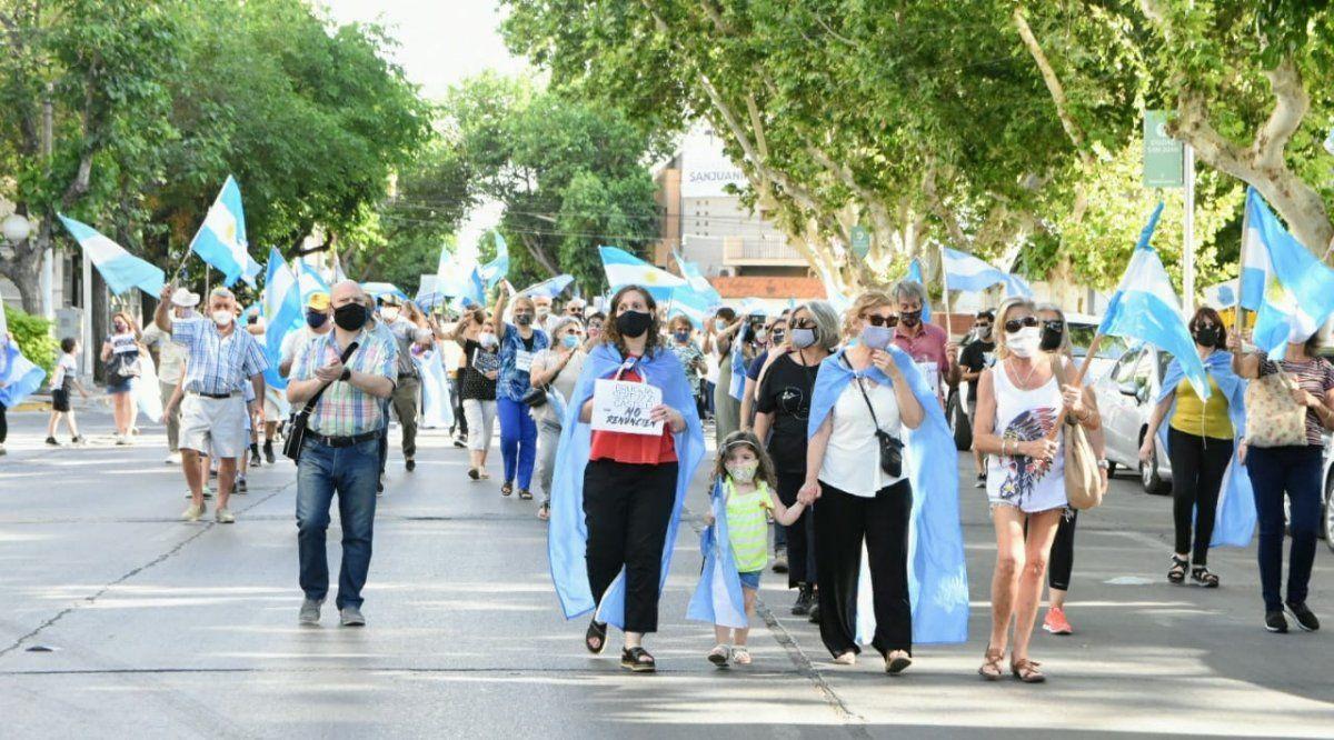 La manifestación nacional llegó al microcentro de San Juan