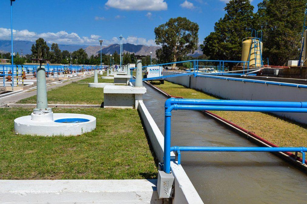 Planta potabilizadora de OSSE ubicada en la zona de Marquesado.