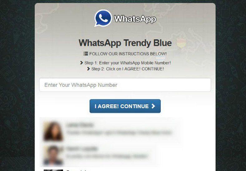 Advierten sobre estafas con el uso del WhatsApp Blue