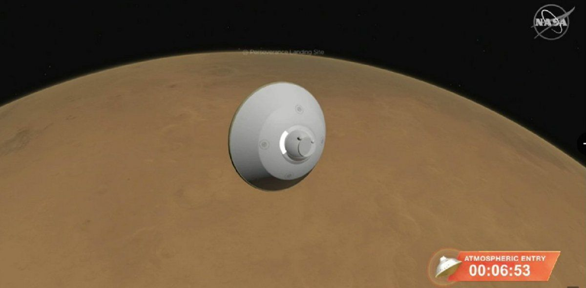 En vivo: el aterrizaje del Perseverance en Marte