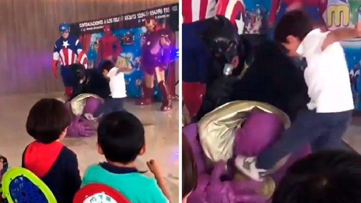 Encarnizado: un niño golpeó sin piedad a Thanos