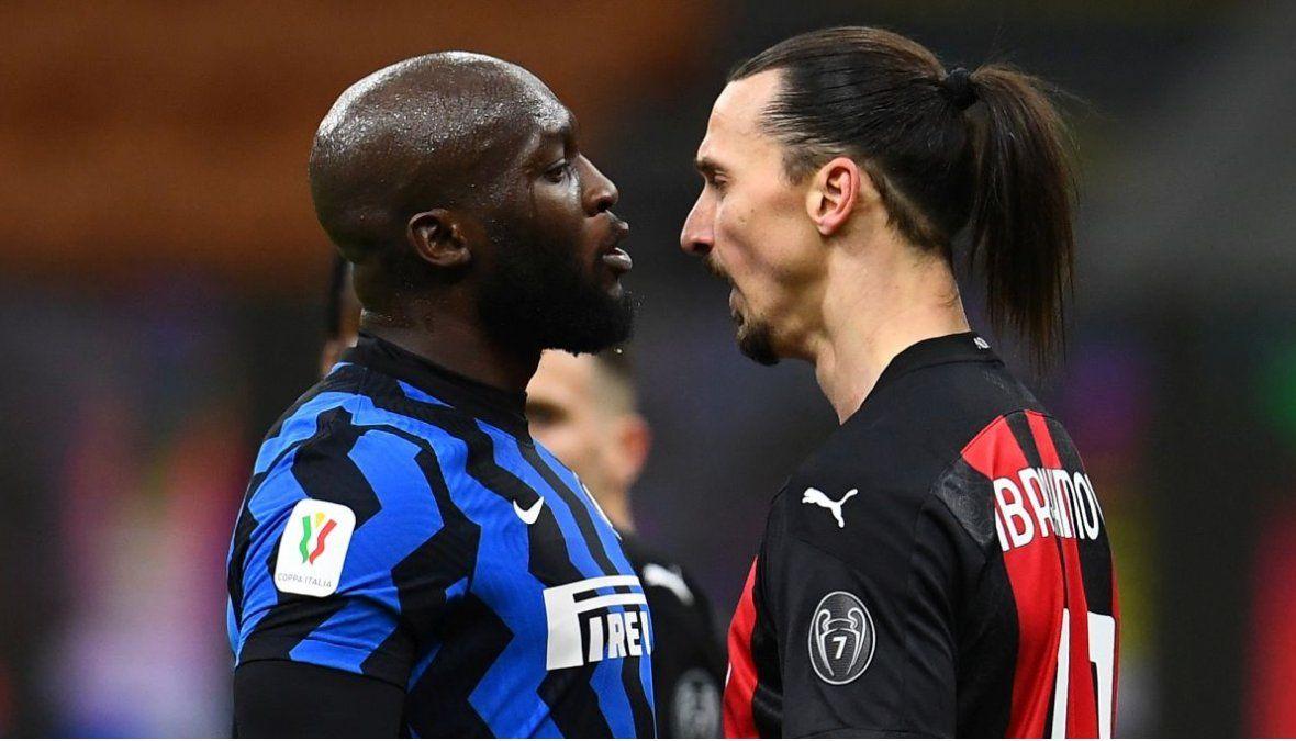 Lukaku e Ibrahimovic se cruzaron feo en el clásico de Italia.