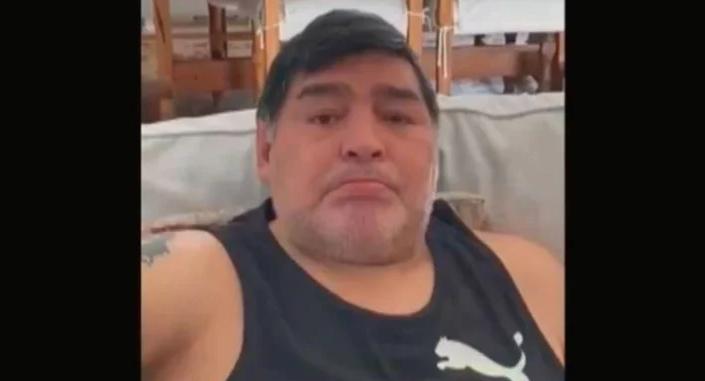 Maradona lloró en una videollamada con su nieta Roma, la hija de Dalma
