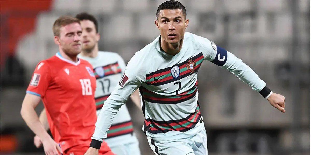 Cristiano Ronaldo convirtió su gol N°103 con la Selección de Portugal.