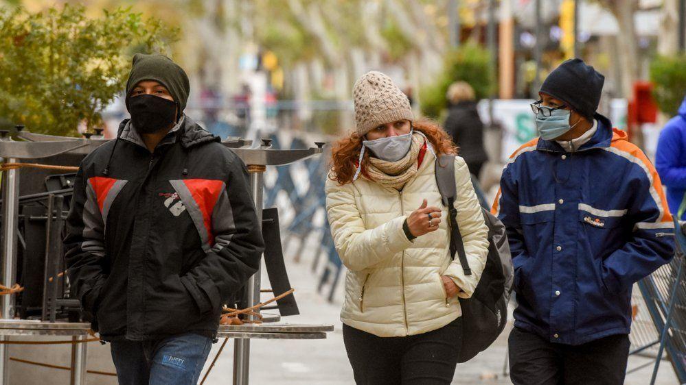 Sábado frío: la brisa del Sur hizo que se registre una mínima de 4ºC