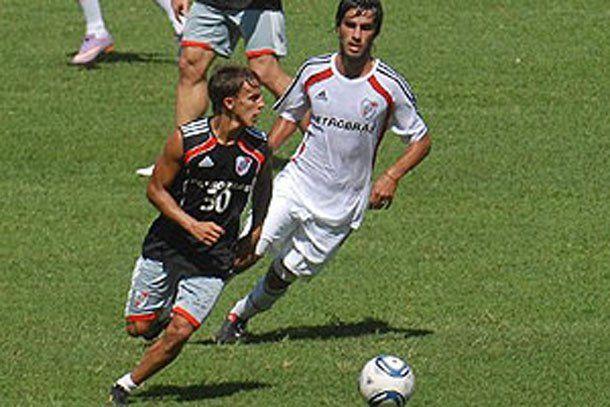 Diego Buonanotte se destacó en la práctica de River
