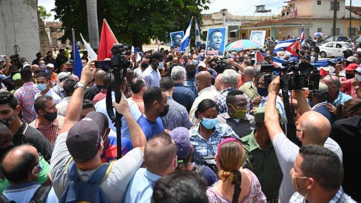 Biden llamó al Gobierno de Díaz-Canel a escuchar a su pueblo