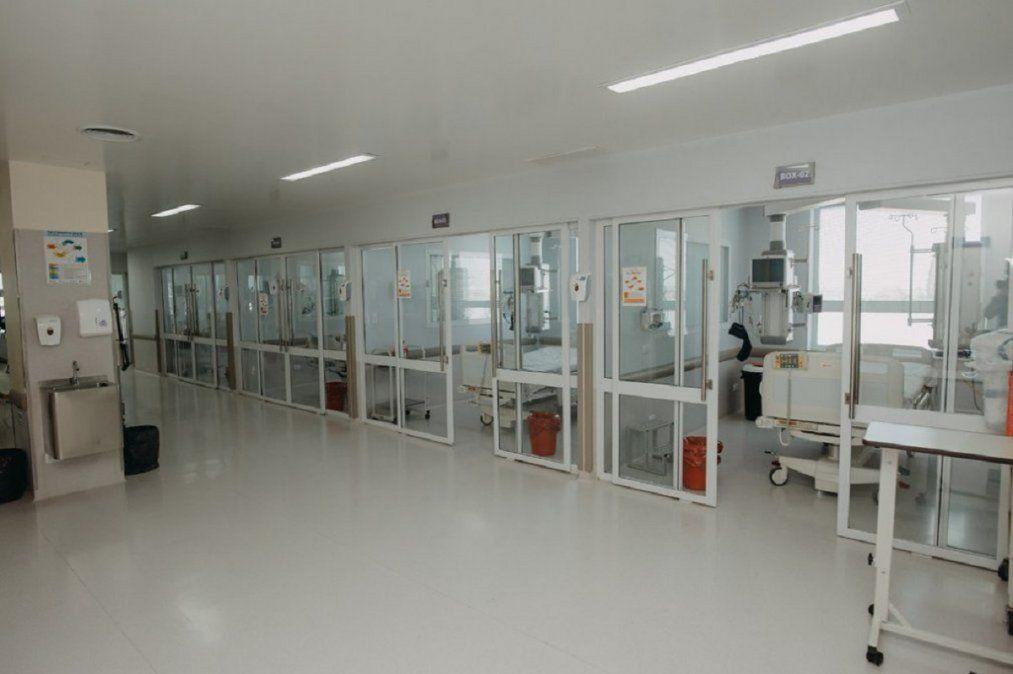 Uno de los espacios destinados para internados por COVID-19.