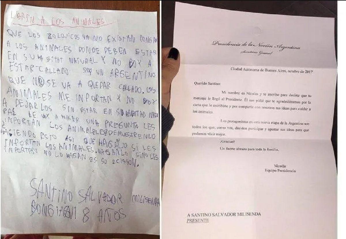 El anterior pedido viral de Santino.