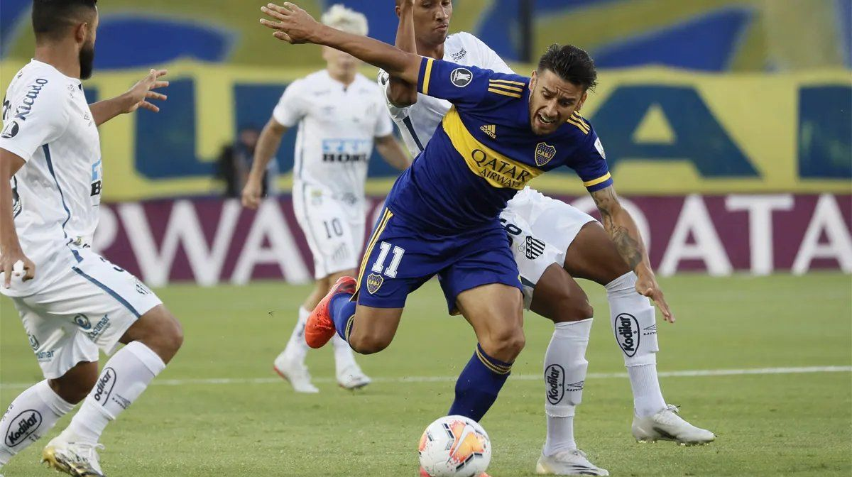 Boca recibe a Santos en el duelo de ida de la semi de la Libertadores. Foto: @BocaJrsOficial