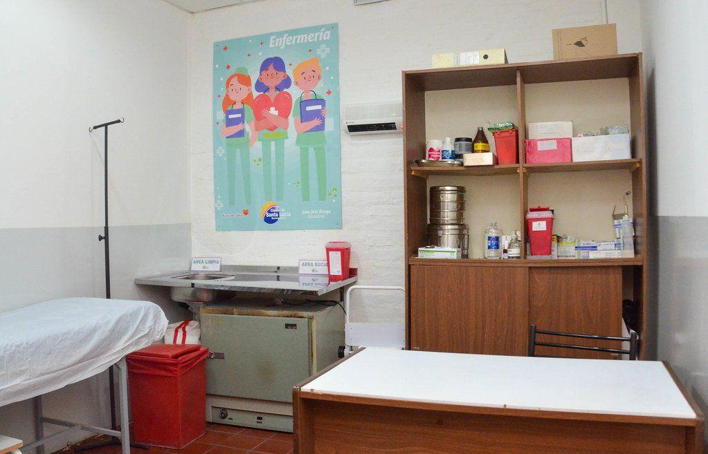 Ya funciona el vacunatorio de un centro de salud en Santa Lucía