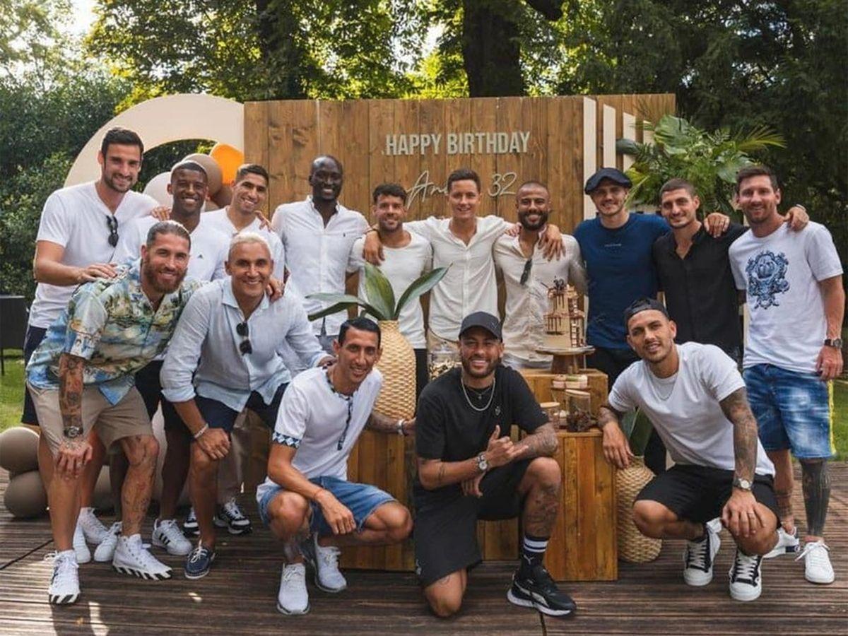 Messi participó del cumpleaños de una de las figuras del PSG