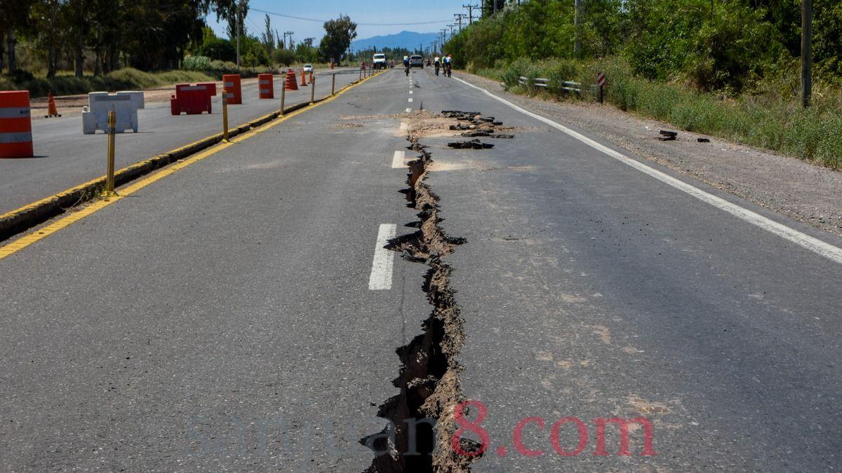 Quedó habilitada Ruta 40 tras los daños del terremoto