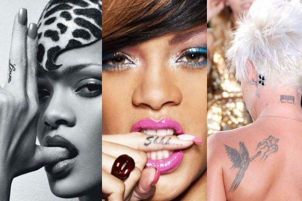 Estos son los tatuajes que ocultan las famosas en sus cuerpos