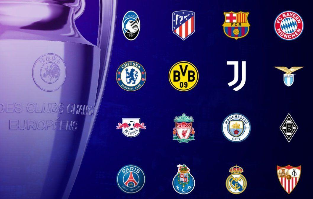 Estos fueron los 16 clasificados a octavos de final de la Champions League.