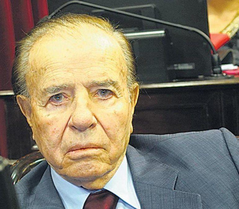 El senador Menem se encuentra internado.