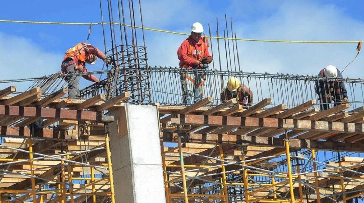 La construcción tuvo un repunte en diciembre.