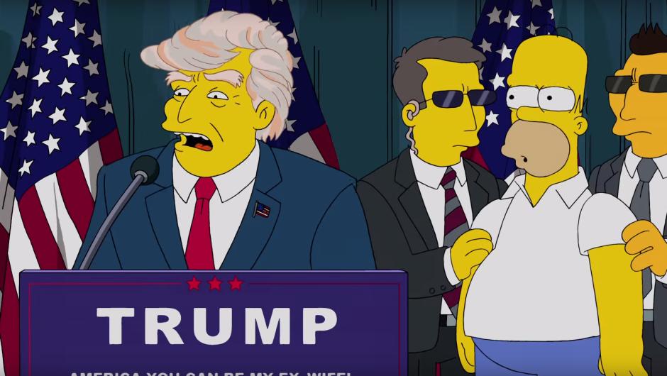 Los Simpson predijeron la presidencia de Donald Trump y una devastada economía