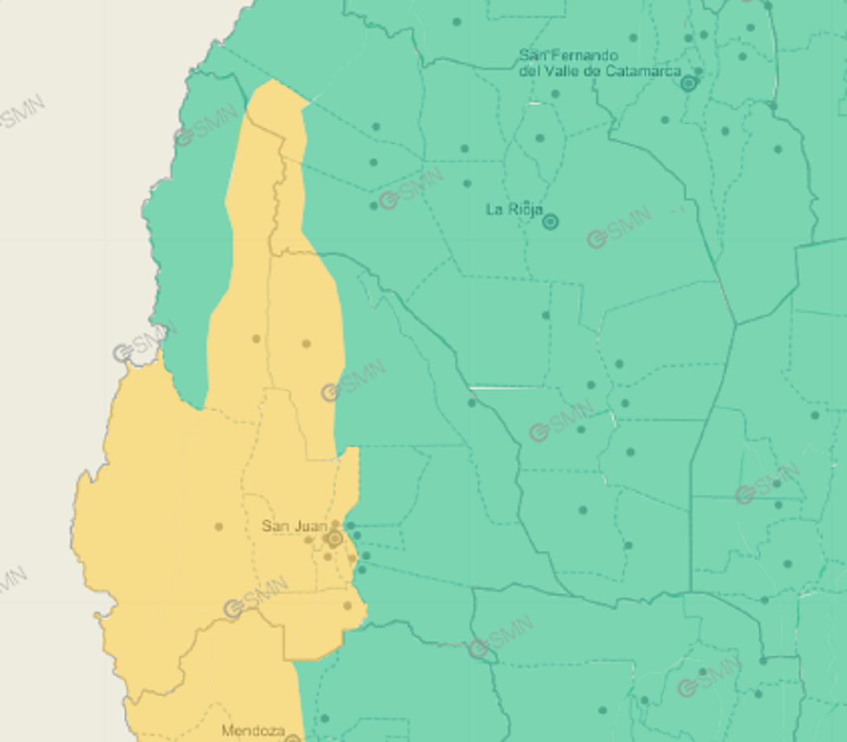 Alerta amarilla por viento Zonda: las zonas más afectadas por las ráfagas