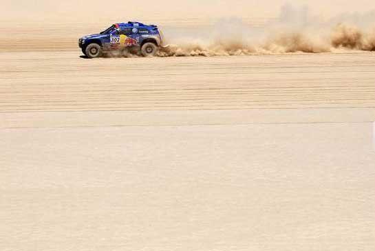 El príncipe Al Attiyah fue el más rápido en la séptima etapa