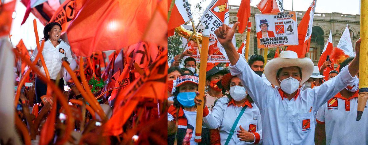 Ajustado balotaje en Perú entre Pedro Castillo y Keiko Fujimori