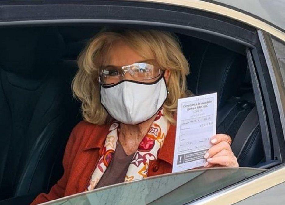 Llegó el día, Mirtha Legrand se vacunó contra el COVID-19