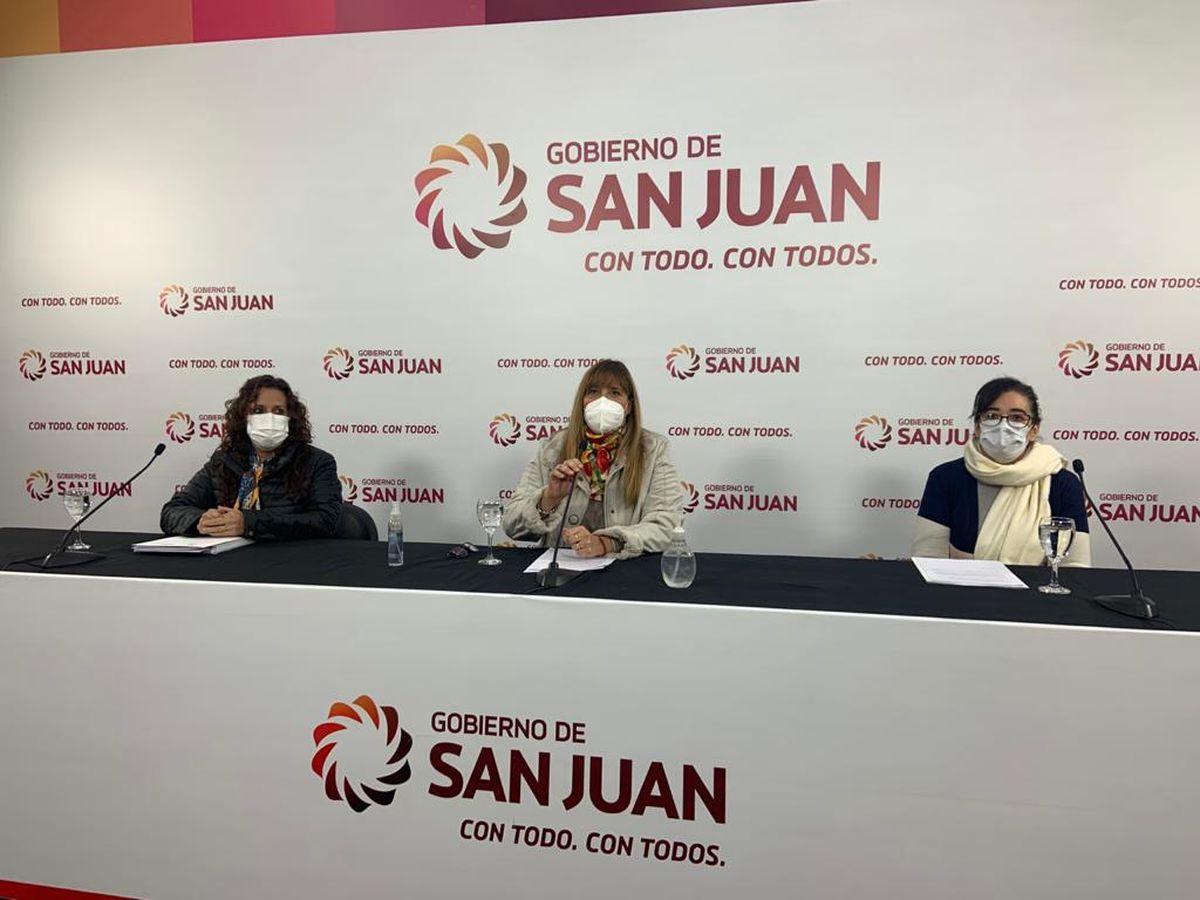 En conferencia, Salud Pública informó vacunación contra el COVID-19 en San Juan