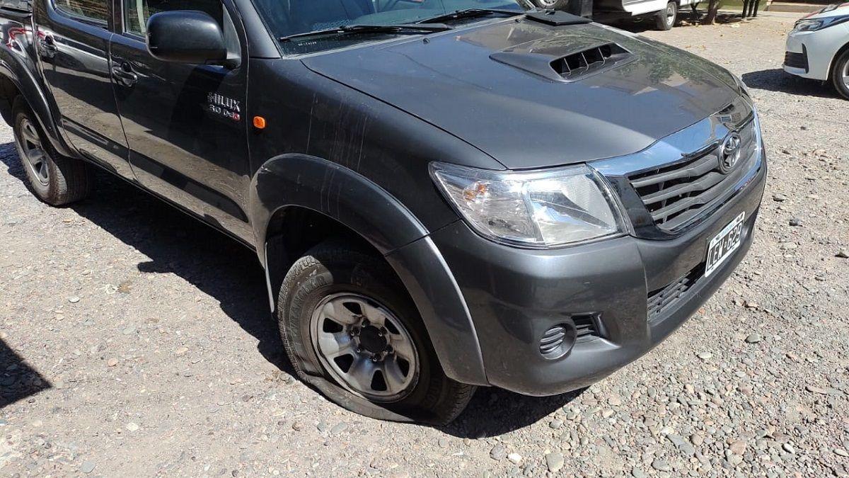 La camioneta robada en Desamparados