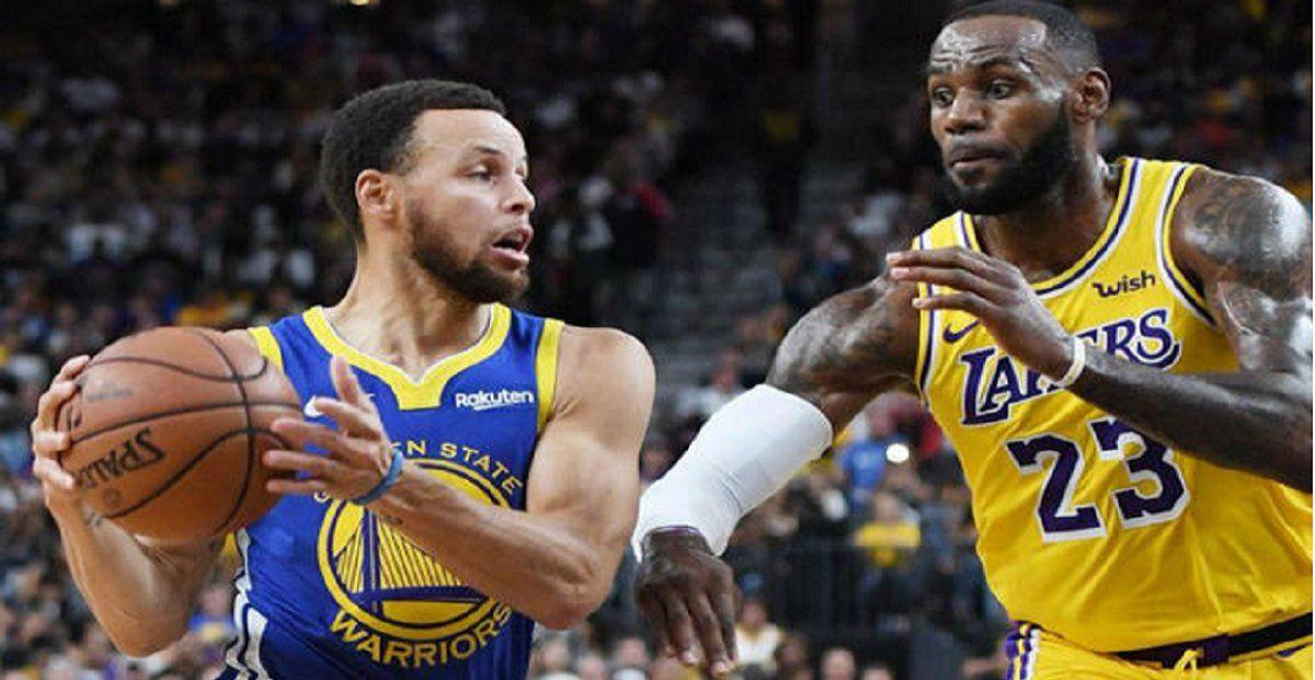 NBA: Lakers y Warriors, mano a mano para llegar a Playoffs