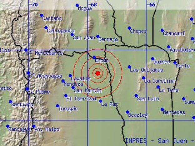 Un sismo sacudió San Juan y Mendoza en la mañana