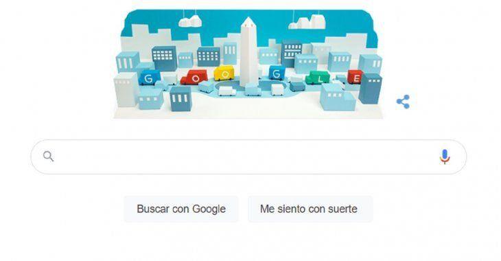 Google le rindió un homenaje al Obelisco por sus 85 años