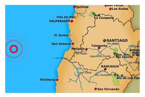 Chile se movió tempranito con un sismo de 5.9º en la Escala de Richter