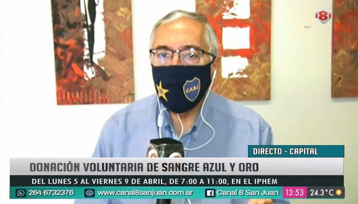 El Dr. Daniel Rosales de la Peña Boca Pasión Sanjuanina en Noticiero 8.