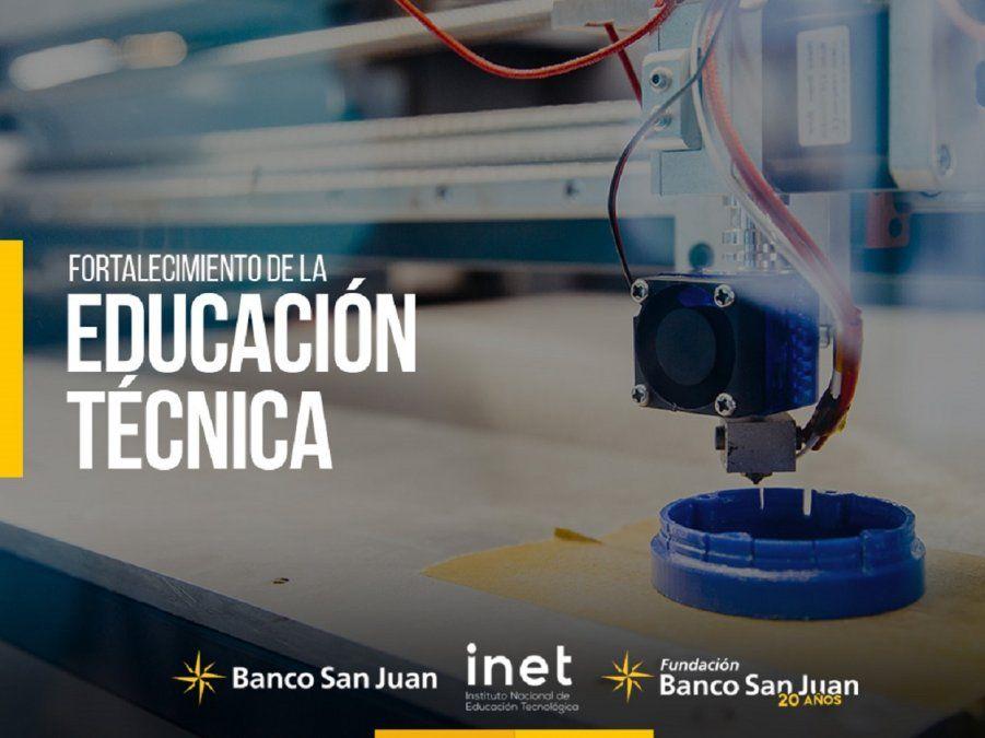 Banco San Juan patrocinará proyectos vinculados a Educación Técnica, Empleo y Desarrollo Tecnológico