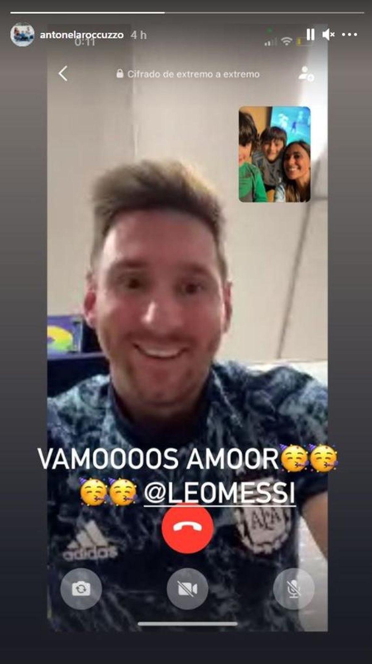 Los hijos de Messi celebraron el triunfo de Argentina