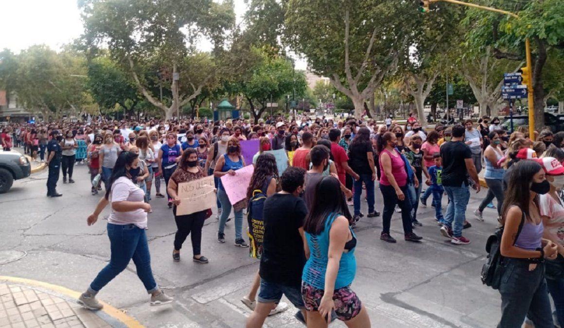 Marcha de mujeres convocada por la asamblea Ni Una Menos.