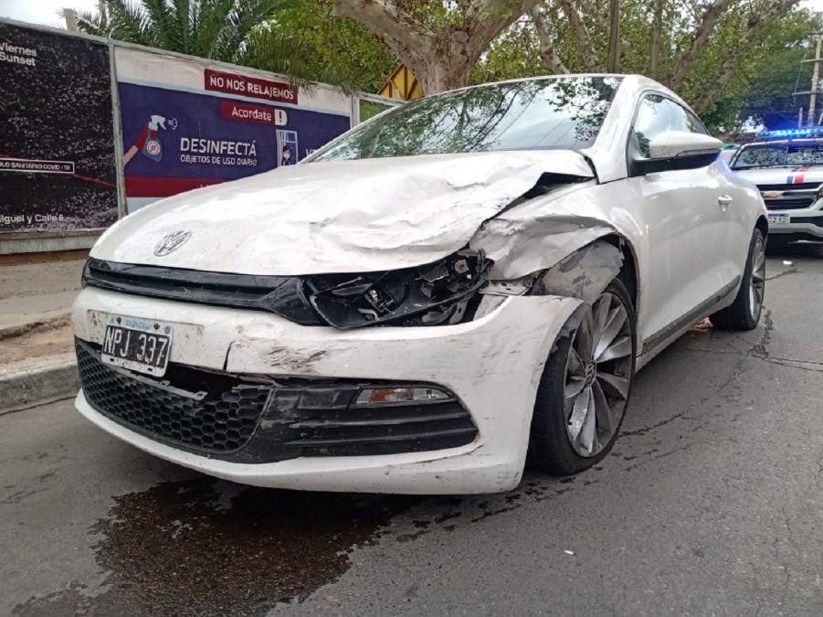 Fuerte choque en plena Libertador: ¿Uno de los conductores estaba borracho?