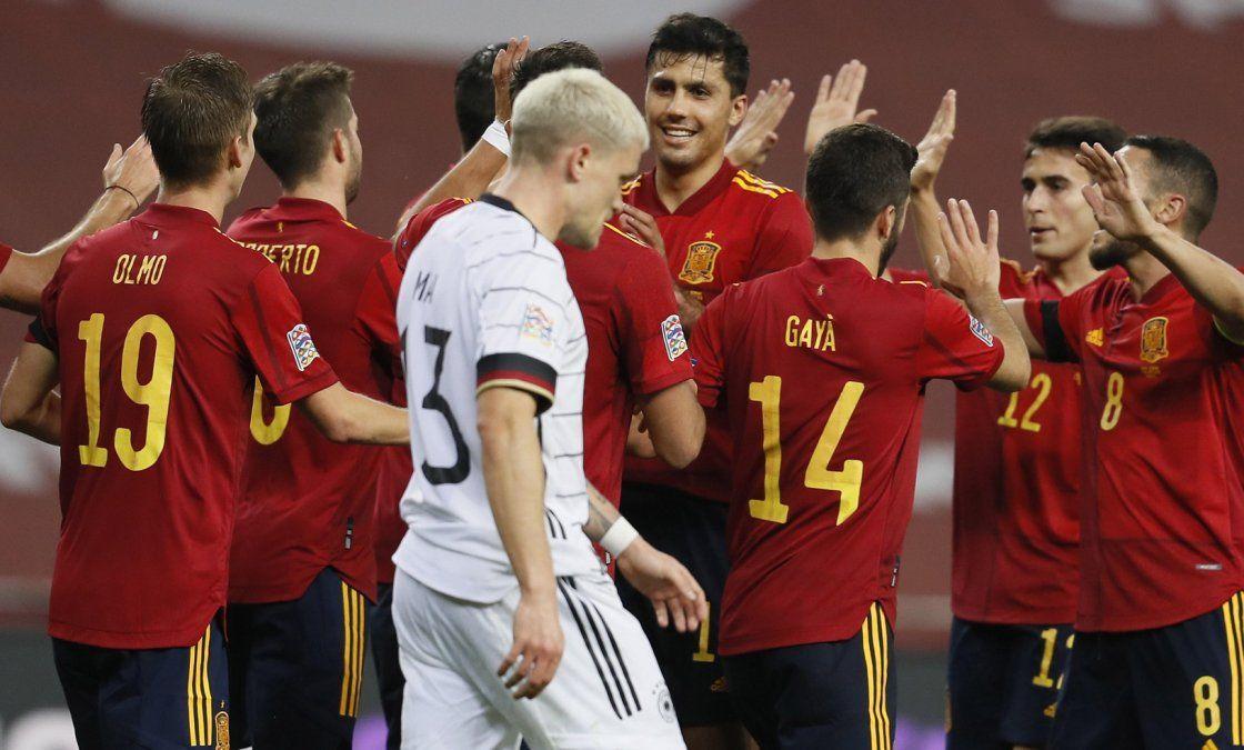 España le ganó 6 a 0 a Alemania en Sevilla.