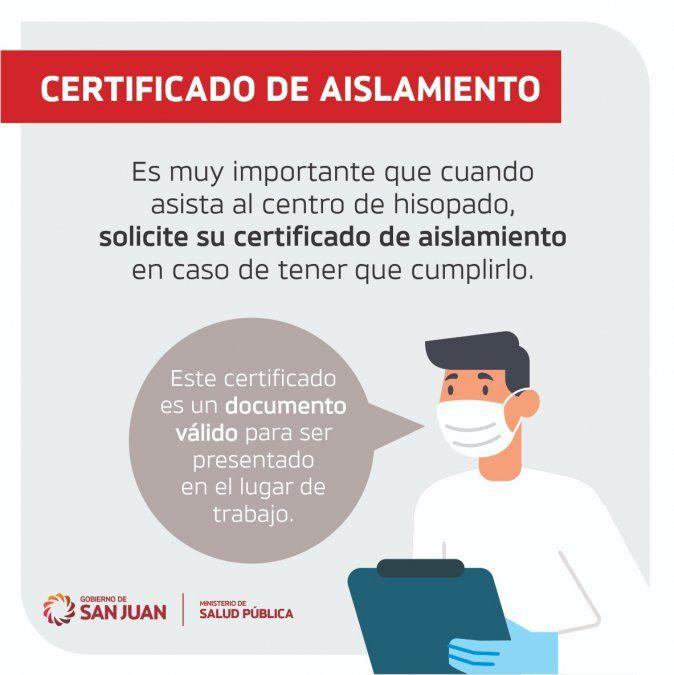 Pedir certificado de aislamiento tras realizarse la PCR o el test antígeno