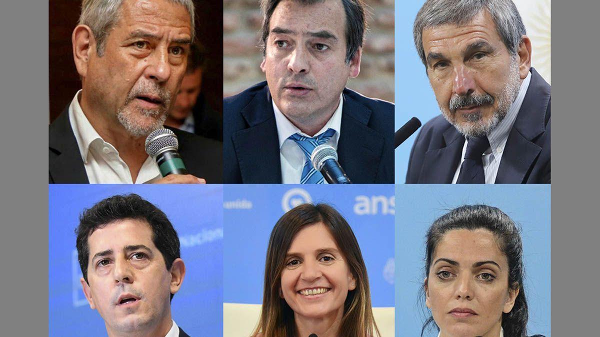 Los ministros Eduardo Wado De Pedro