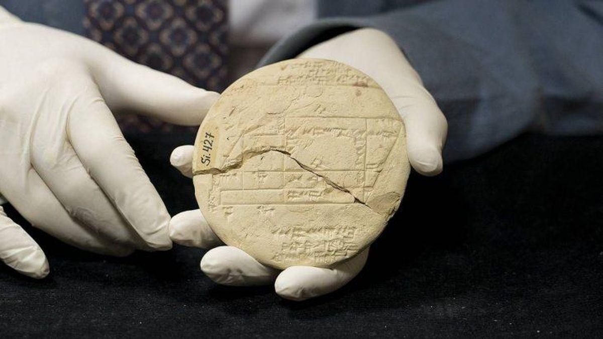 Antigua tablilla de arcilla