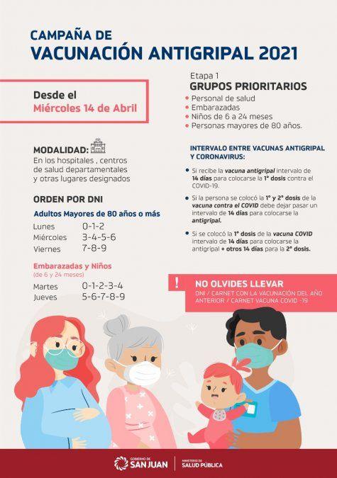 Los mayores de 80 años podrán vacunarse con la antigripal