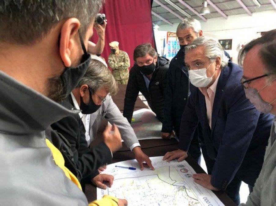 Incendios en Chubut: Fernández reforzó el paquete de ayuda