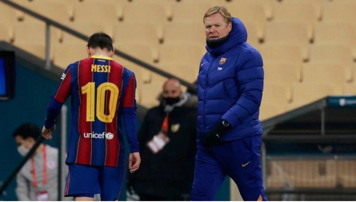 Koeman está preocupado porque Messi no firmó su contrato