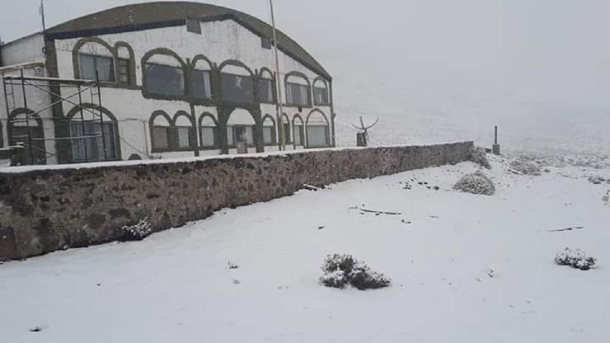 Nieve en la Estancia Don Carmelo