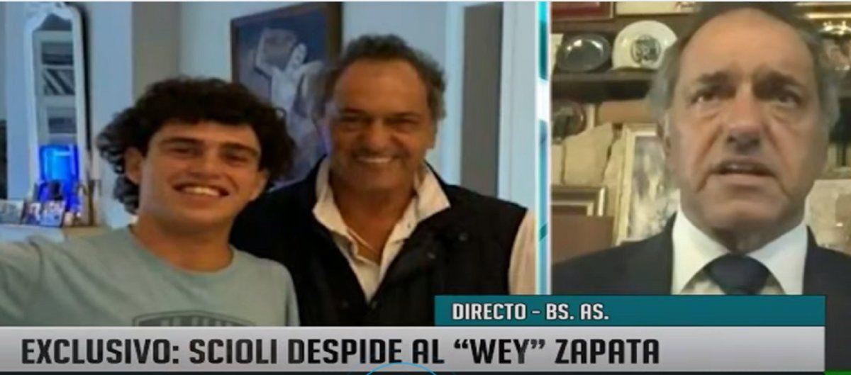 Scioli recordó al Wey: Albertito tenía todo para salir adelante