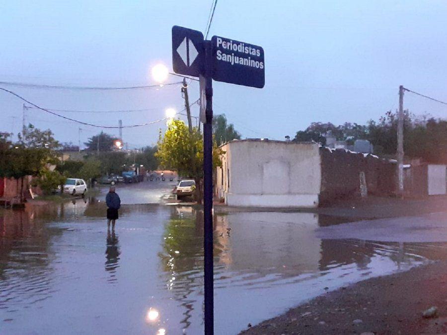 Pocito, Rivadavia y Ullum, los departamentos más afectados por la lluvia