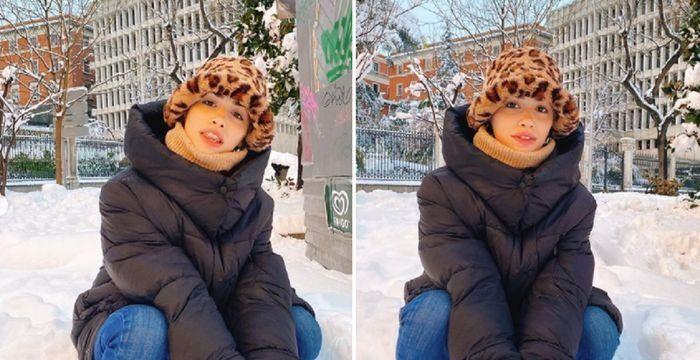 Lali Espósito, varada en Madrid por una tormenta de nieve